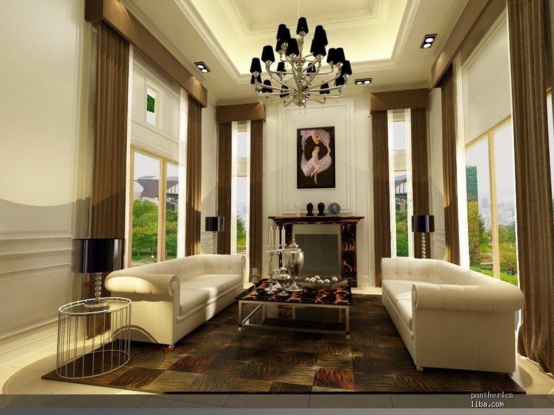客厅效果图-周璃琮的设计师家园-白色