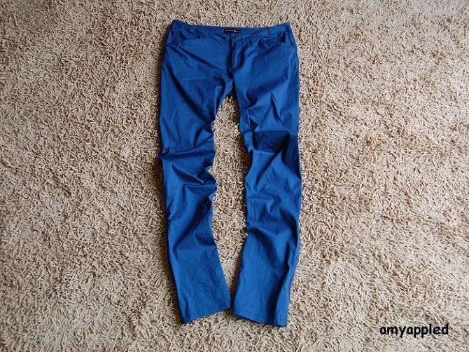 男款蓝色布鞋搭配