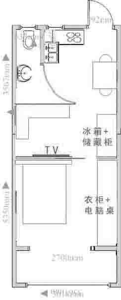 长方形房子格局设计图片展示