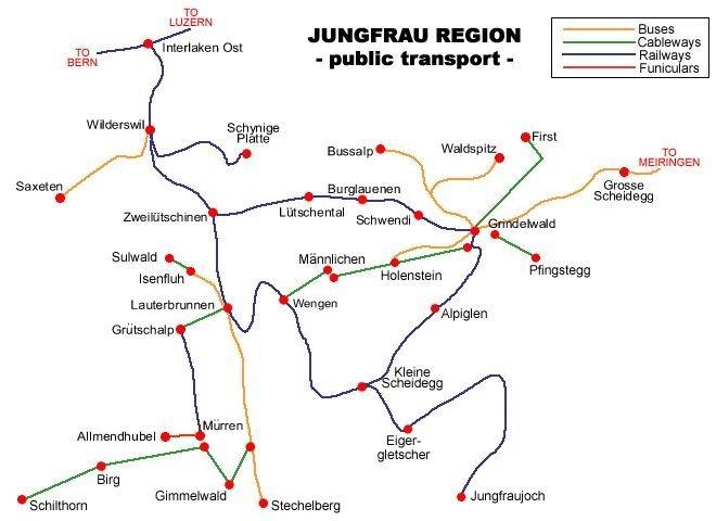 瑞士交通地图中文版