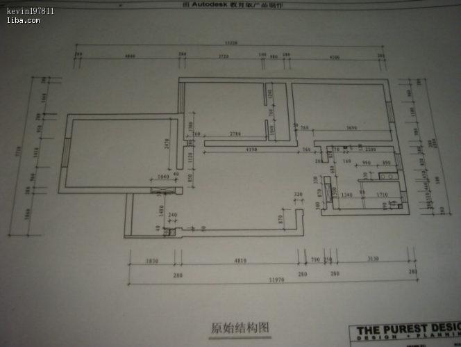房屋三室一厅一卫设计图纸图片