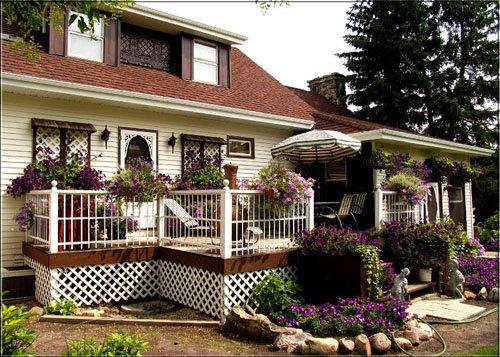 家庭小花园效果图
