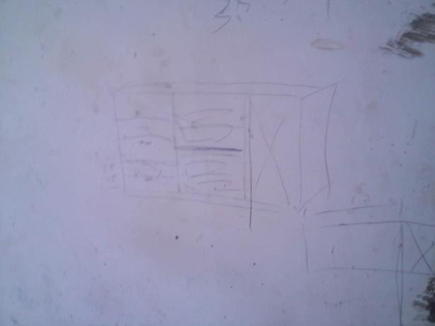 来看看右边小柜子的设计图