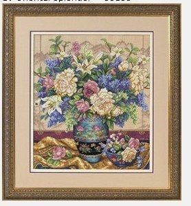 十字绣版的东方花瓶