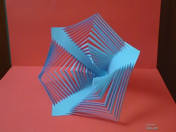 立体构成折纸_半立体构成折纸教程