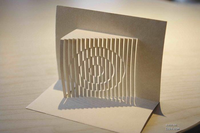 半立体建筑纸雕图片