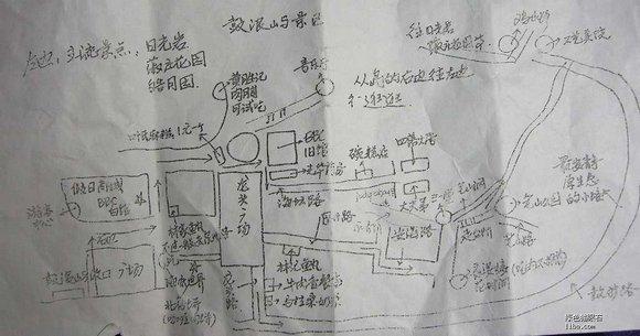 鼓浪屿手绘地图;;  美食地图;