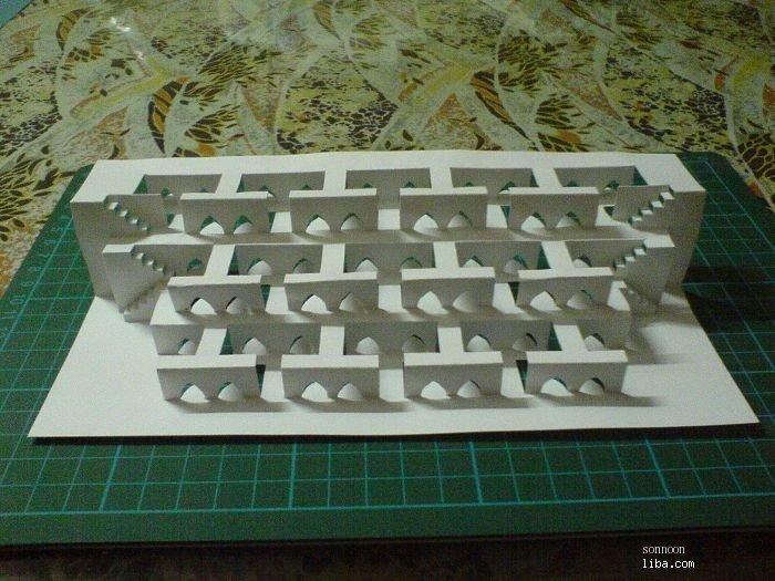 半立体构成纸雕步骤图
