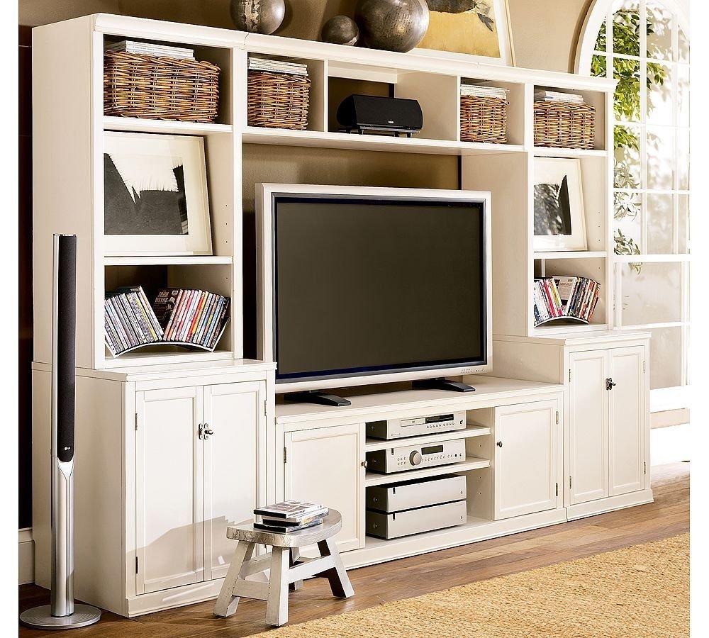 客厅电视柜与装饰柜或书柜的组合收集