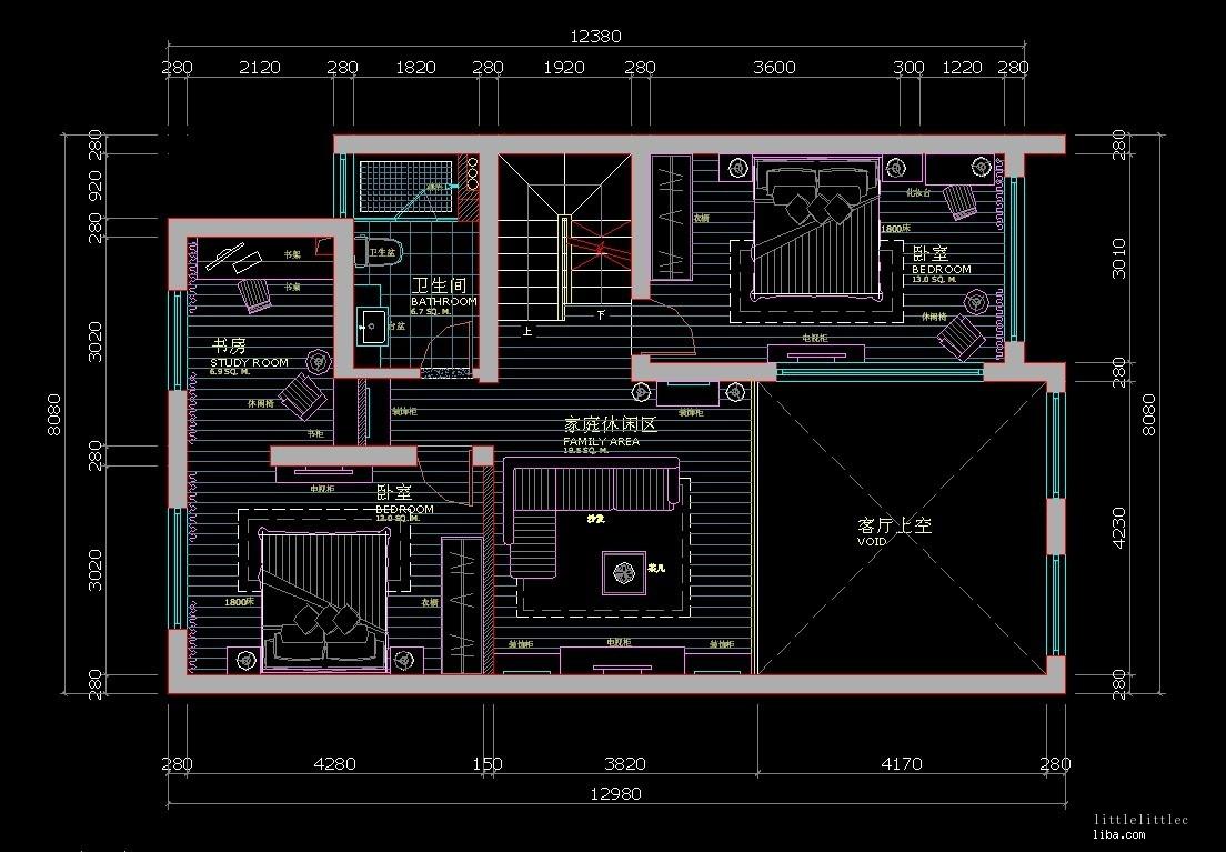 室内照明电路布线图