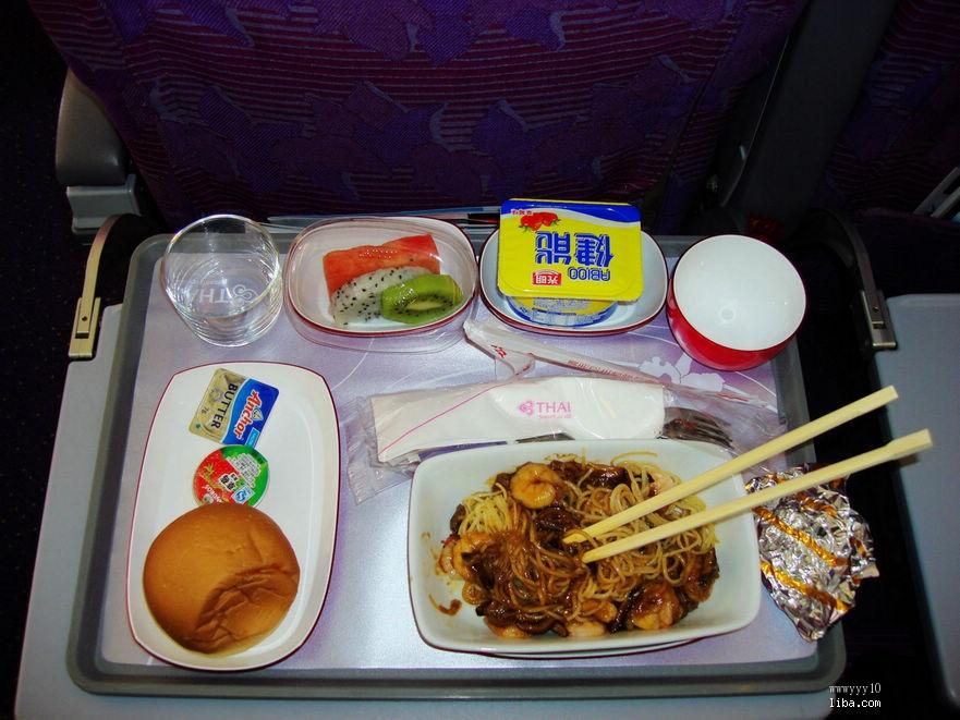 泰航的飞机餐, 海鲜面