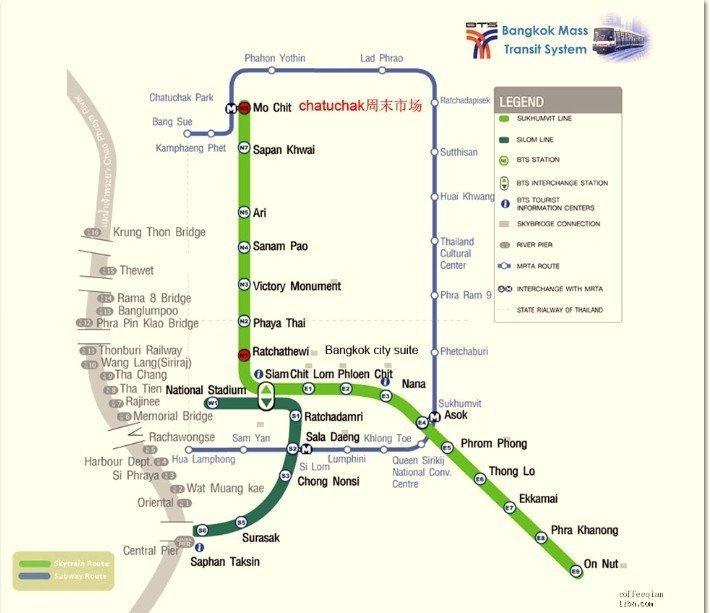 曼谷地铁地图中文版