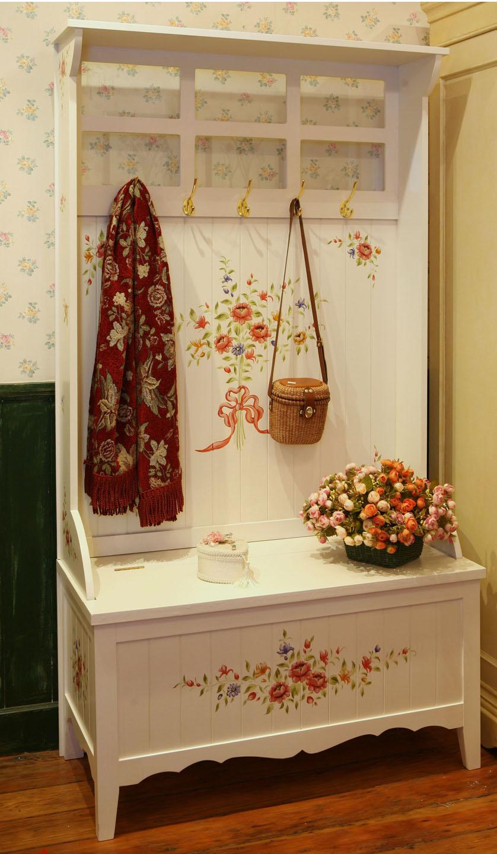 欧式家具美式衣帽架挂衣架玄关柜门厅柜换鞋凳田园