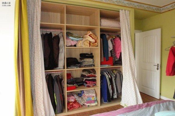 急求衣柜门用布帘代替的贴子