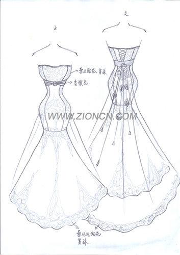 婚纱绘画步骤图