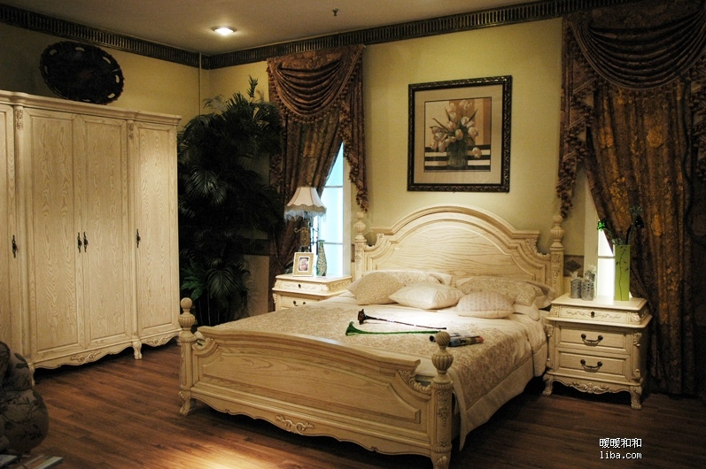 欧式榆木沙发图片