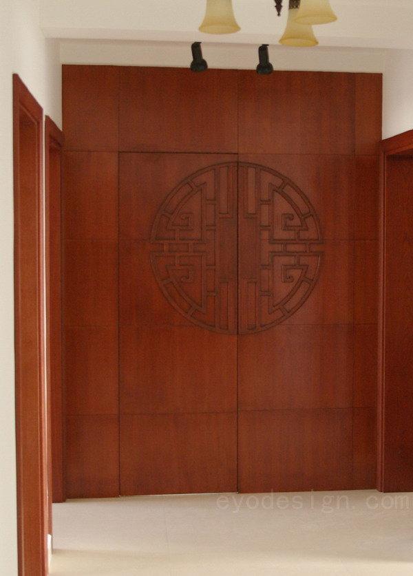 中式卧室门图片