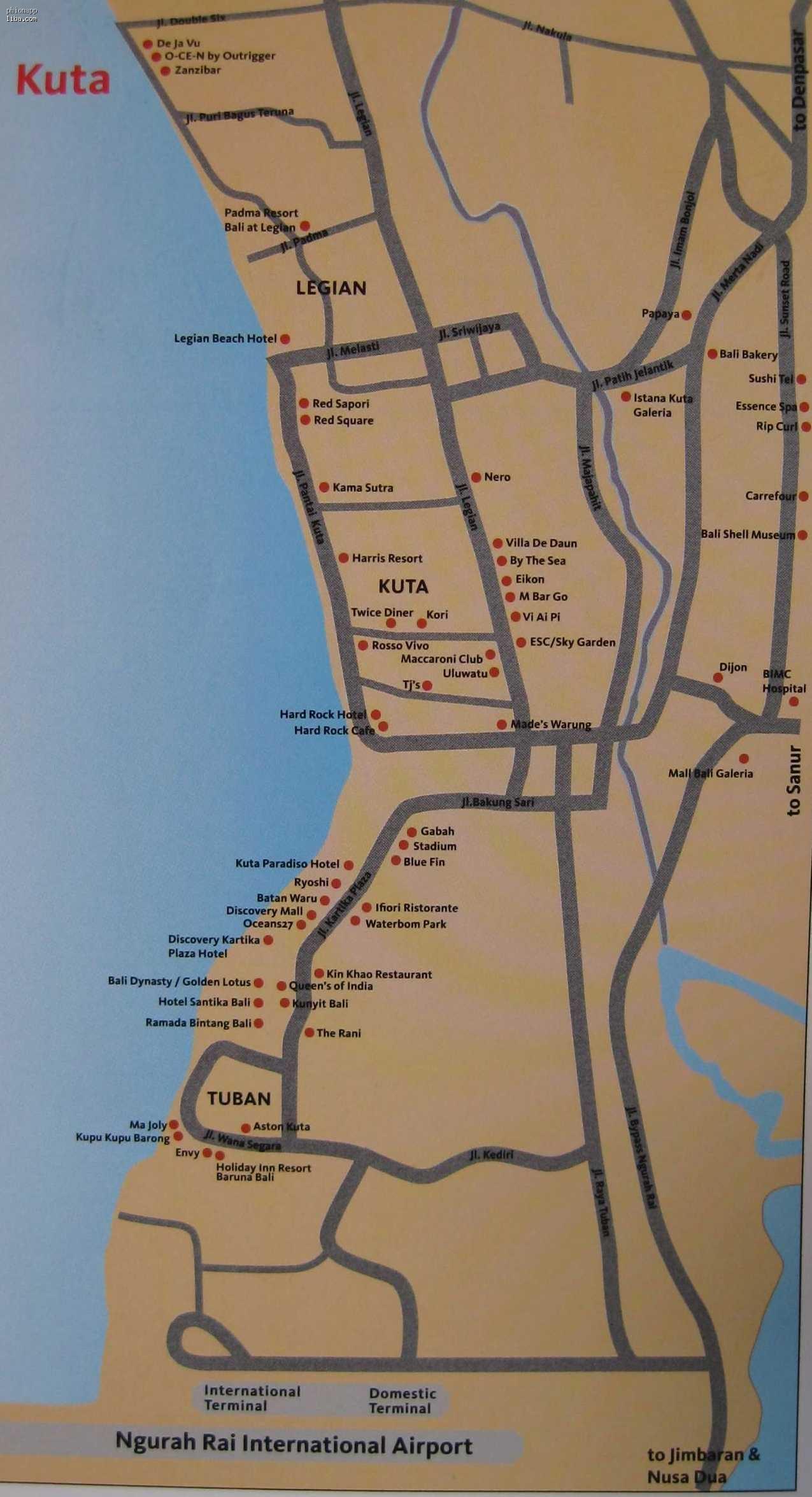 巴厘岛地图 全图