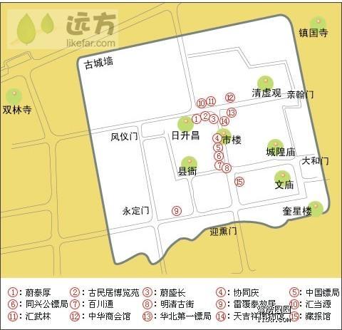 周庄景区门票地图