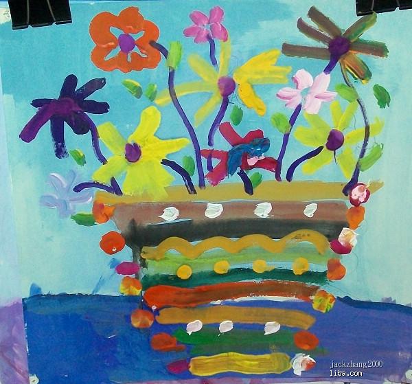 水粉画,创意儿童