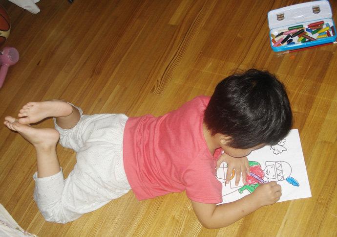 可爱小床画画图片
