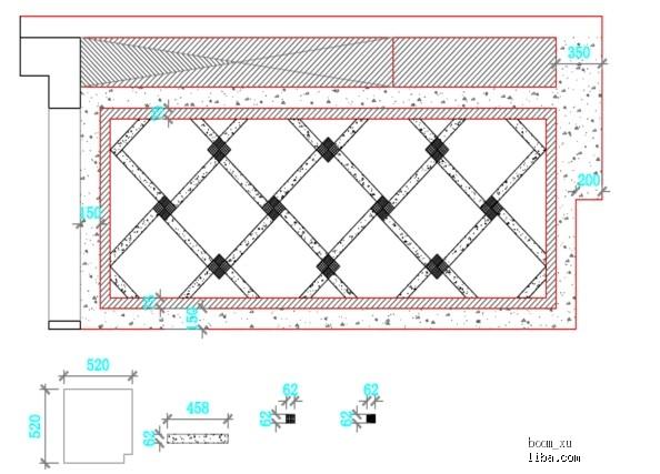 铺装广场平面手绘图