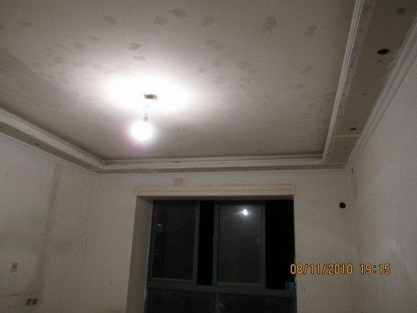 吊顶筒灯电路施工照片