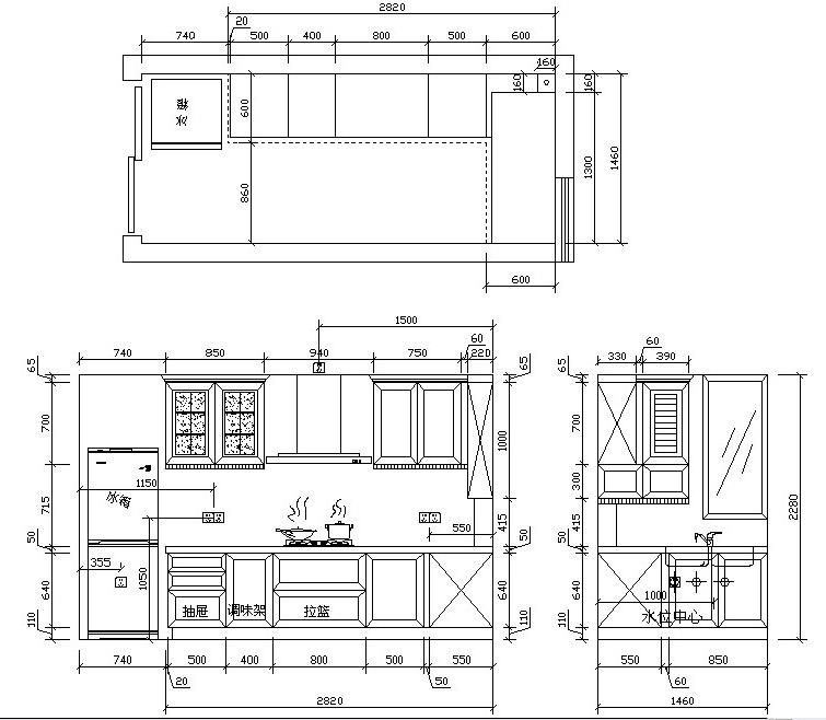 厨房橱柜设计图 水电展示图片