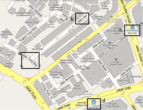 阿罗街地图