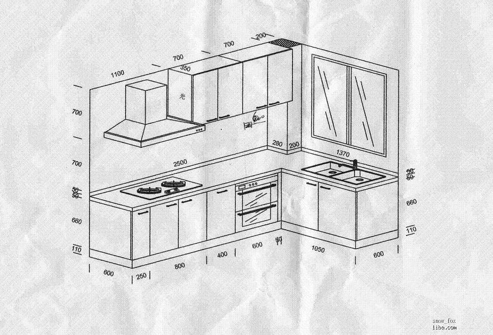 橱柜设计图_橱柜设计图三视图
