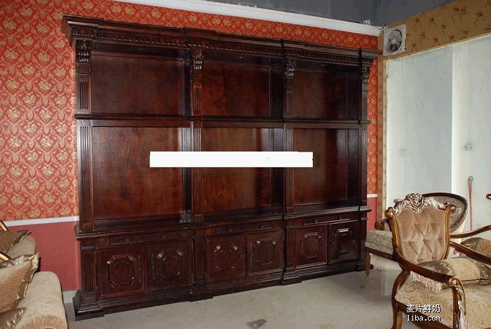 欧式衣柜带孤形半圆图片