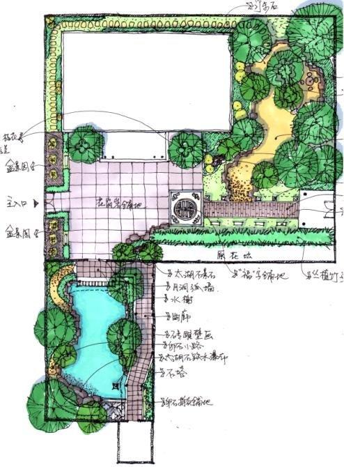 好看的别墅庭院图片