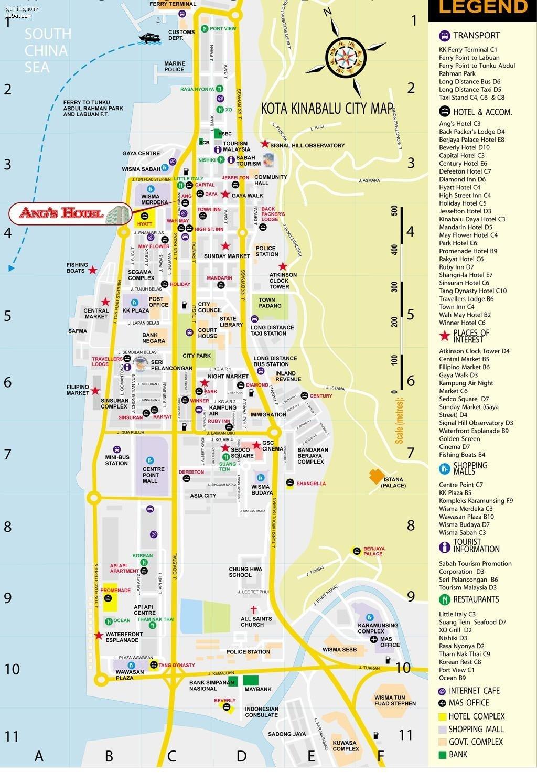 亚庇市内地图