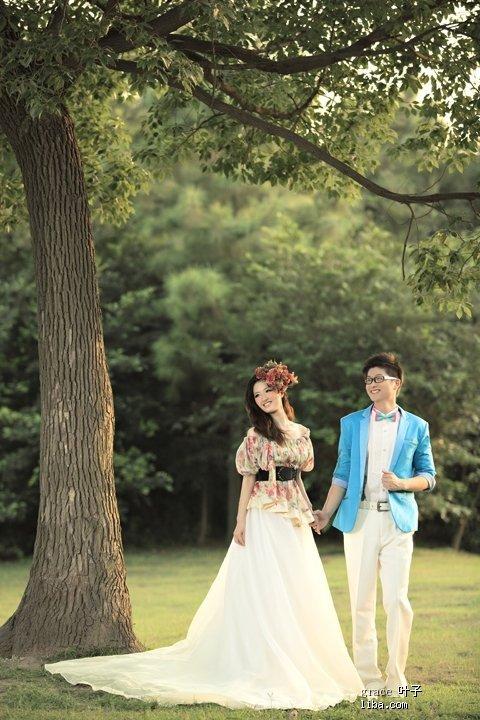 森林公园婚纱情侣照——梦幻