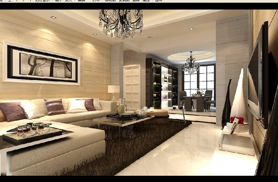 效果图是客厅的墙面,和餐厅的墙面也用40*40的地砖