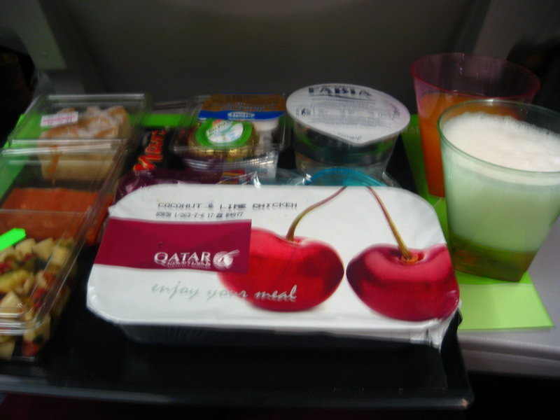 罗马到多哈的飞机餐