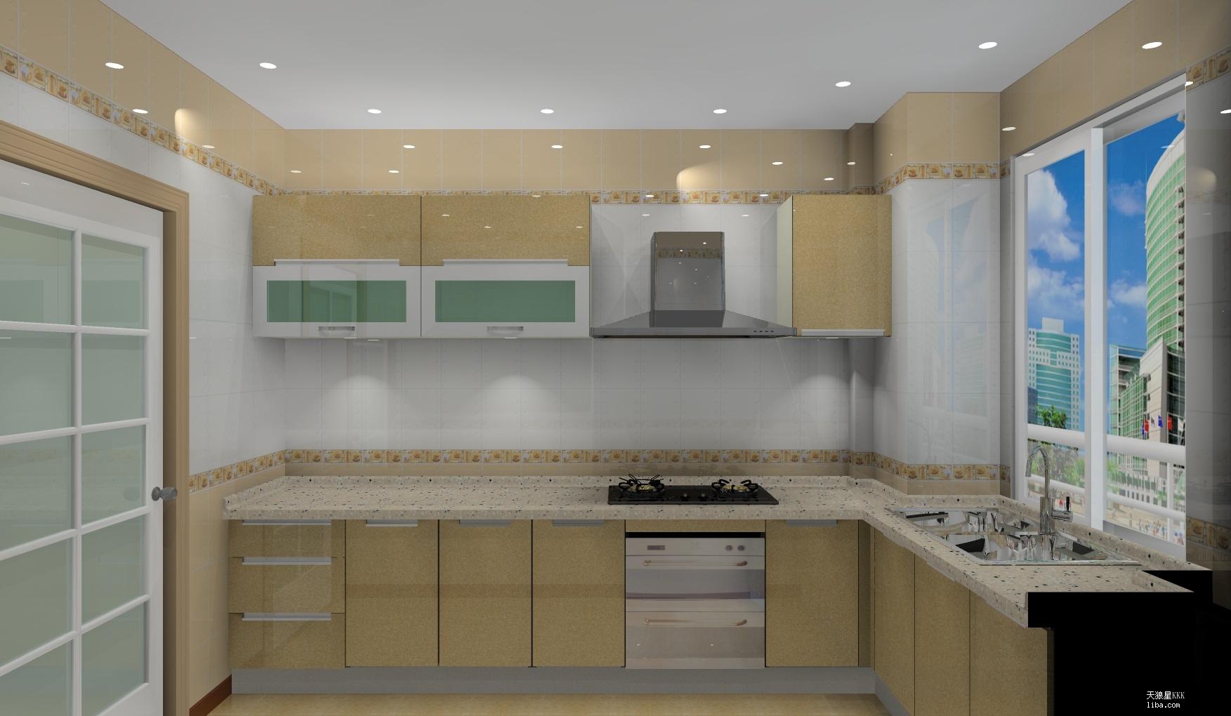 微晶石欧式厨房效果图