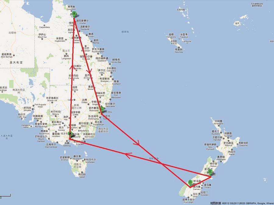 尼——新西兰南岛