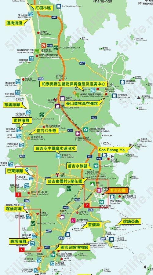 普吉岛悦椿中文地图