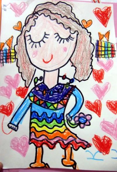 幼儿园中班公主画画作品