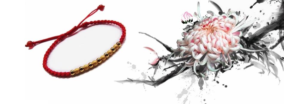 红绳黄金手链款式图片下载 红绳黄金手链款式打包下载图片