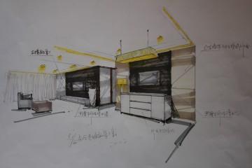 大师手绘图——客餐厅