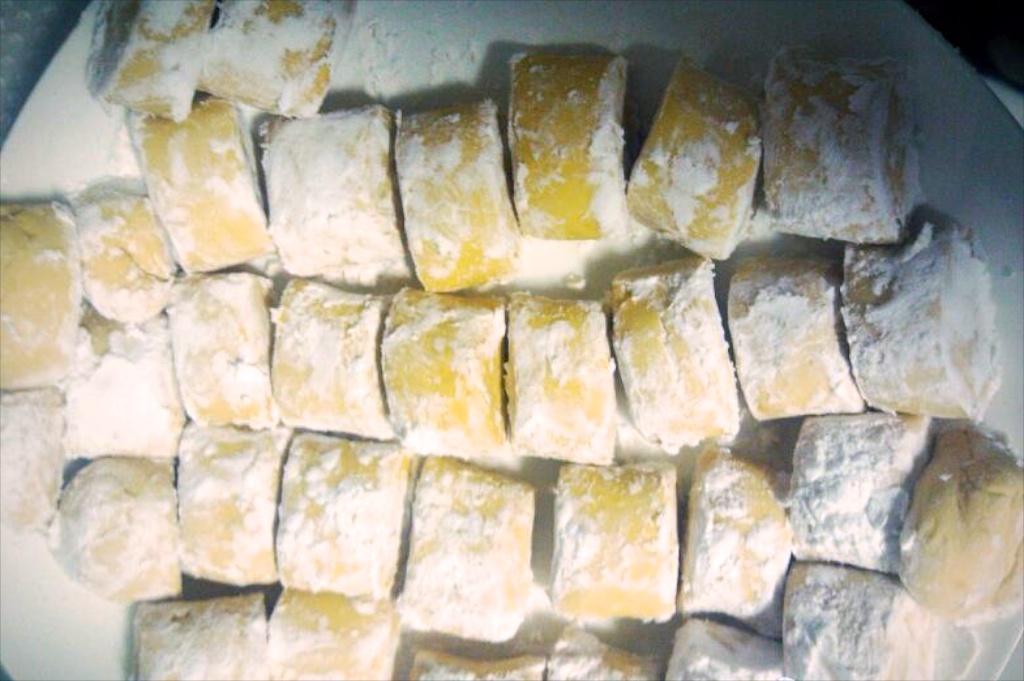 芋圆出炉了,但是木薯粉和不成形