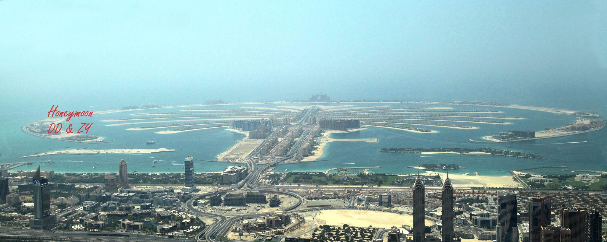 就是坐水上飞机绕迪拜主城转一圈