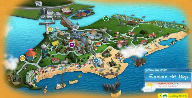 圣淘沙整岛地图; > 栋栋宝旅游日记--新加坡