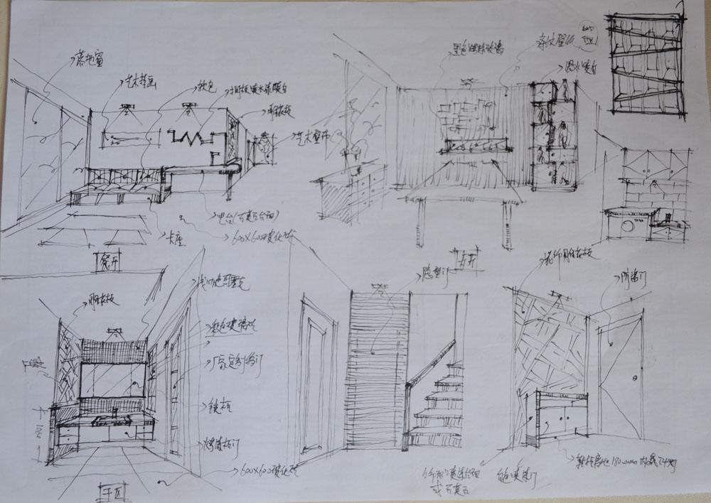 阁楼设计手绘图