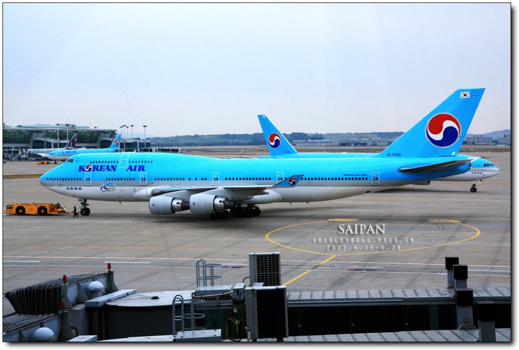 我们坐的韩亚航空的飞机