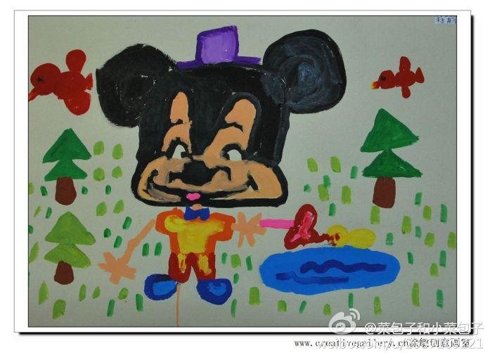 野营真快乐儿童画
