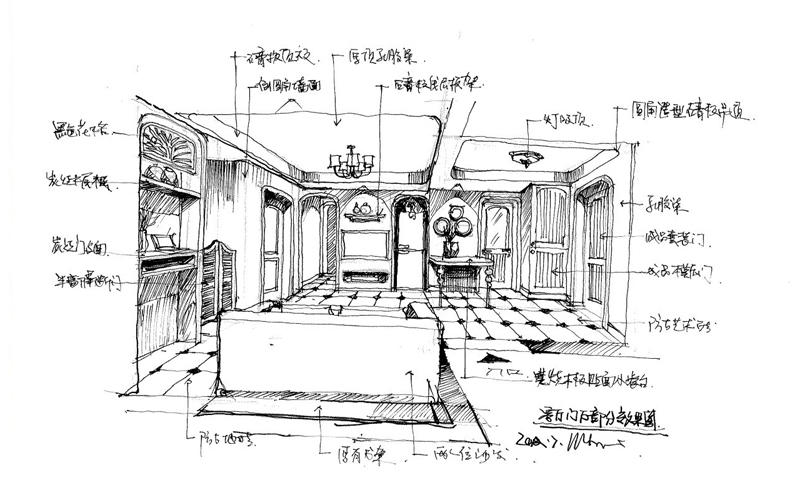 3 手绘图—客厅 no