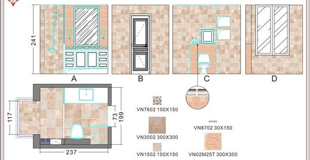 瓷砖图,次卫生间